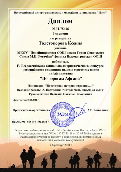 Толстокорова Ксения